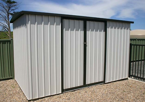 Shed for storage.