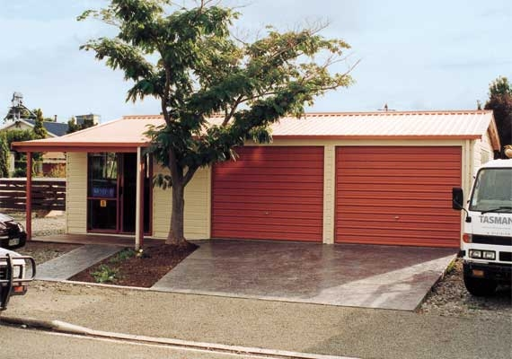 Double garage 9m x 6m with office.