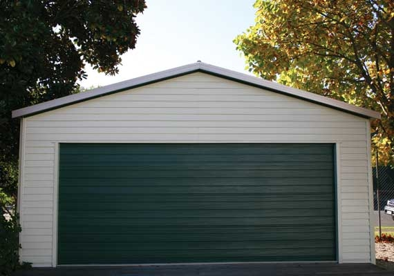 Double Garage 7.2m x 6 and 15 degree roof pitch.