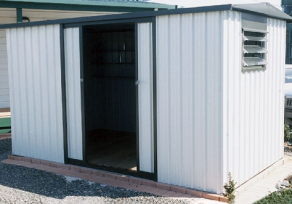 Jumbo With Double Sliding Door Garden Sheds Skyline