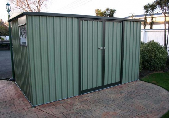 skyline garden shed jumbo with double sliding doors - Garden Sheds Nz