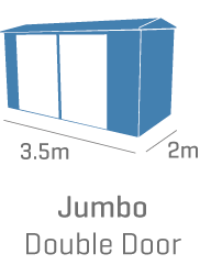Jumbo with double sliding door